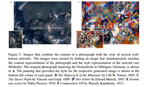 Researchers have figured out how to take the artistic style from one painting and apply it to a new image.